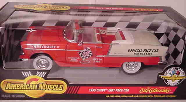 orden en línea 1955 Chevy Belair Indy Pace Coche Coche Coche 1 18 Ertl American Muscle 7124  venta caliente