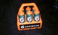 Brand Gatorade Water Bottle Set With Carrier Holder Case -
