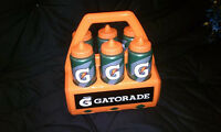 Brand Gatorade Water Bottle Set With Carrier Holder Case -