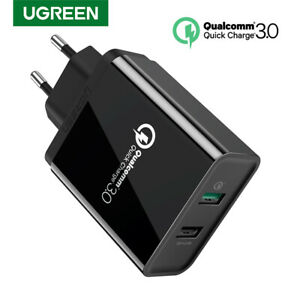 Ugreen-USB-Wall-Charger-Adapter-Quick-Charge-3-0-2-0-for-iPhone-X-8-Samsung-S9