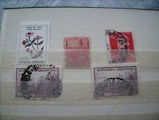 Collection of 5 Fine/Used/Unused Stamps from Argentina - 1899 & 1955