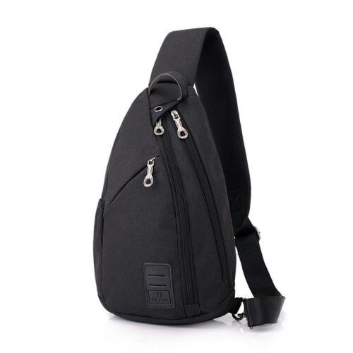 Men/'s Chest Pack Large Capacity Sling Shoulder Bags Multifunction Crossbody Bag