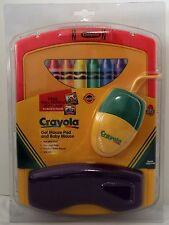 Vintage Crayola Gel Mouse Pad And Baby Mouse, w/6 Pin Mini-DIN PC-AT Connector
