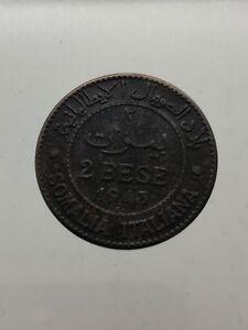 Somalie-Italiana-Vittorio-Emanuele-III-2-Bese-1913-BB-Avis-D-Expert-Rares