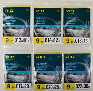 Rio Saltwater Tapered Leader 8 10 12 16 20 25 30 40 LBS Free Shipping Options
