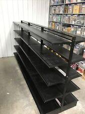 Gondola Shelving Used Retail Store Metal Fixtures Grocery Market Black