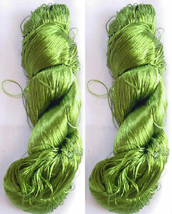 New  250g Woven Thread Knit Work Sari Fabric Silk 2 PLY Skeins Yarn Lace Crochet