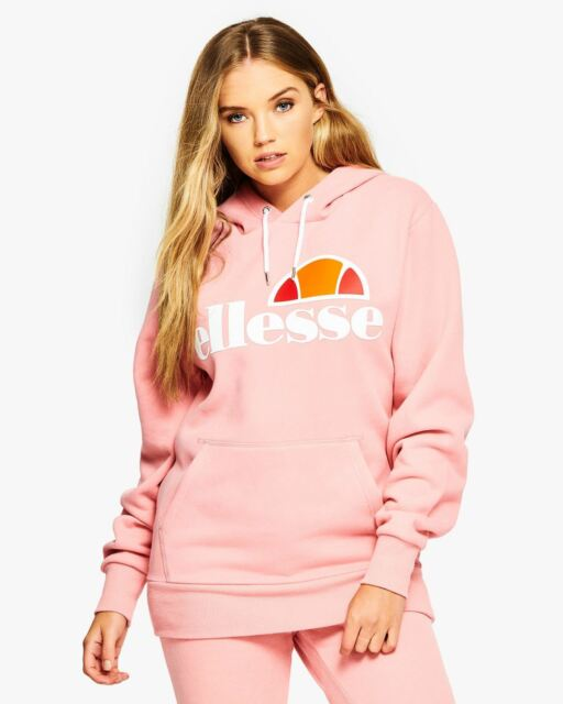 167fbfc3ac ellesse Torices Hodded Tracksuit Women Sweat Top SGS03344 Soft Pink 14