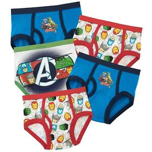 4, Multi Marvel Avengers 3 Pack Boys Briefs Underwear