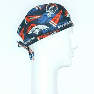87e8661d8 Details about NFL Denver Broncos Theme Scrub Hat