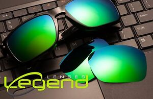 697b8e00363 Image is loading A53-Green-Blue-Mirror-POLARIZED-Replacement-Legend-Lenses-