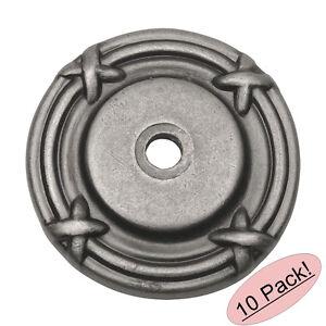*10 Pack* Cosmas Cabinet Hardware Weathered Nickel Knob Backplate #9468WN