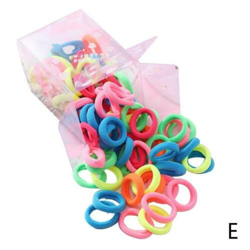 50pcs Colorful Elastic Rubber Headbands Hair Accessories for Girls Pack