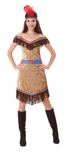 #indian Deluxe Donna Marrone Adulto Costume Festa in Costume Taglia Unica
