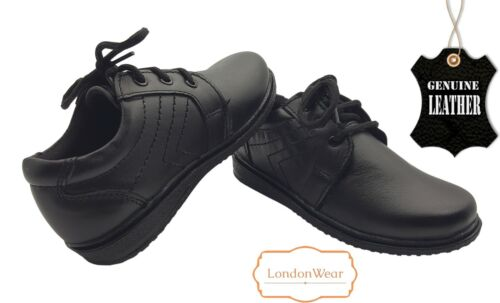 Boys Formal Shoes Genuine Leather Shoes For Party Dress Londonwear UK-7 EU-28