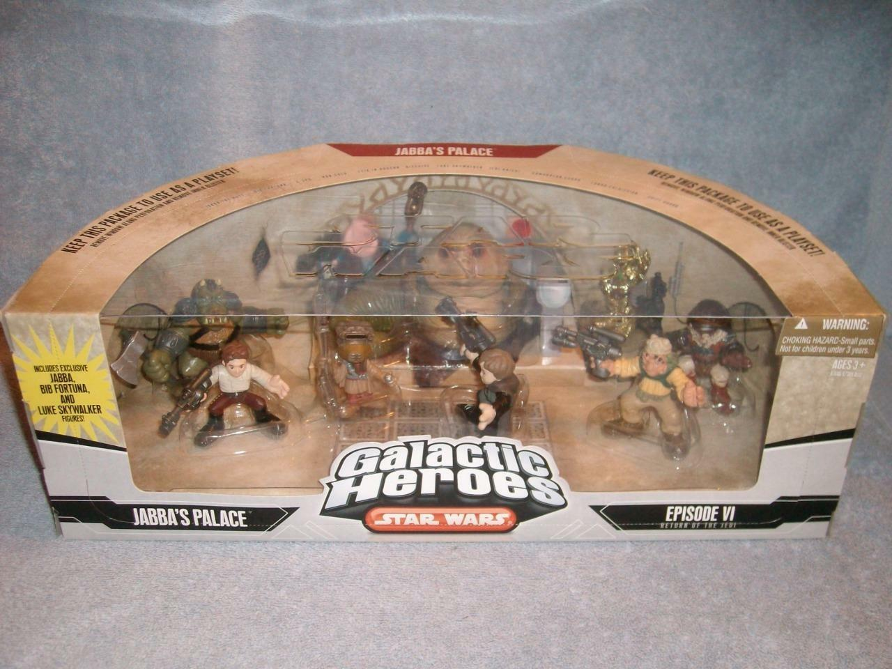 Jabbas Palace Galactic Heroes Exclusive Luke Bib Fortuna Star Wars Hasbro 2007