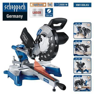 Scheppach Kapp-Zugsäge HM100LXU Kappsäge mit Laser, 2000W, 254mm Sägeblatt