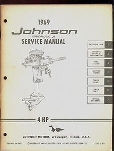 1969 johnson outboard sea horse 4hp models service repair manual rh ebay co uk 1977 4 HP Johnson Seahorse Seahorse 4 HP Johnson Rewind Starter