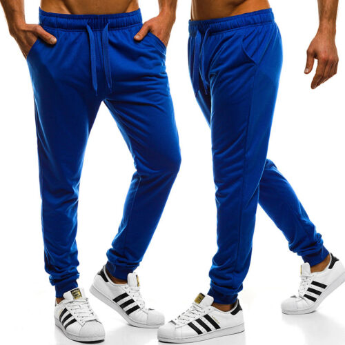 Mens Track Pants Sports Gym Jogging Fitness Gym Running Casual Trousers Bottoms