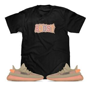 851536b6d8a3 Boost Black T-Shirt Designed To Match Adidas Yeezy Boost V2 Clay ...