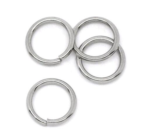 Être en gros Hot Acier inoxydable ouvert Split Rings 8 mm.