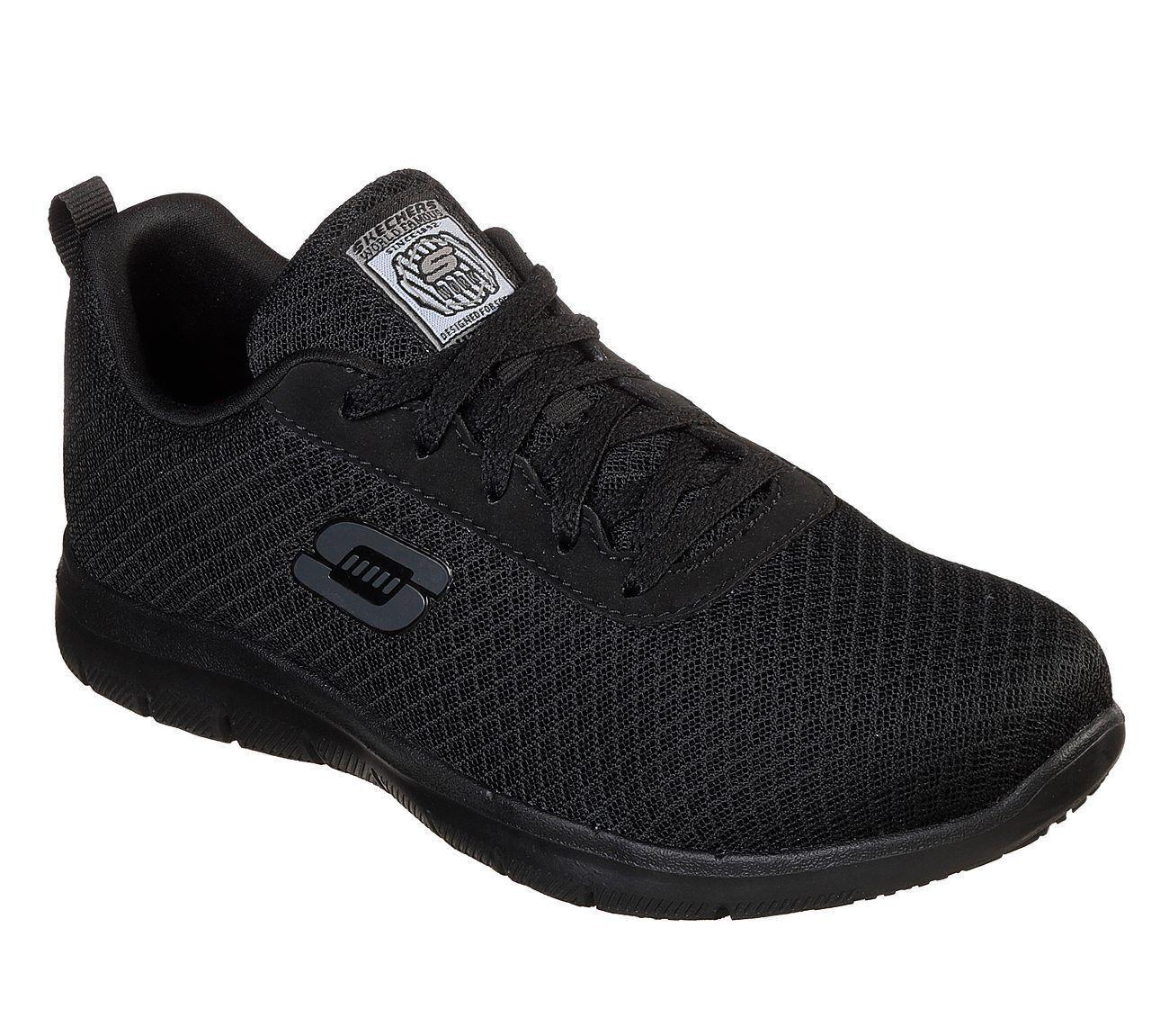 Black Skechers shoes Women Memory Work Resistant Safe Electrical Hazard EH