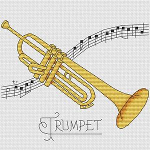 Trompeta-diseno-de-punto-de-cruz-W203mm-X-H203mm-W8-034-X-H8-034-kit-o-el-cuadro