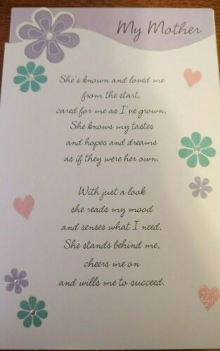 Details about  /Mother/'s Day Card Gibson For Mother Light Purple