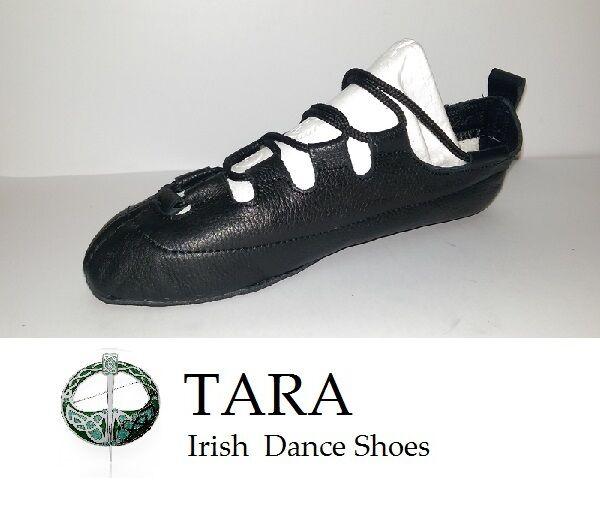 IRISH DANCE PUMPS GILLIE LEATHER POMPS SOFT REEL SHOES TARA BRONA HANDMADE