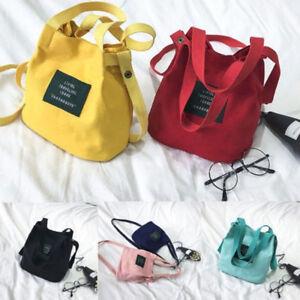 Neue-Frauen-Canvas-Handtasche-Schulter-Messenger-Bag-Satchel-Tote-Schultaschen