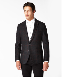 40r 00 Giacca 199 quadretti in a in Fit £ Remus Tapered lana tweed Uomo OxwvWqBT