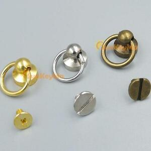 Brass-Head-Button-O-ring-3-8-034-10mm-plated-Stud-Screwback-Screw-for-Leather-bag