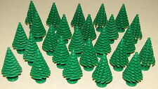 LEGO LOT OF 25 NEW LARGE GREEN PINE TREES CHRISTMAS TREE PIECES