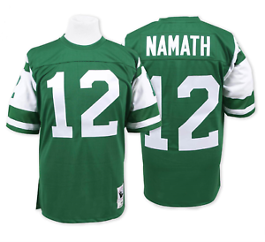 Details about Joe Namath #12 New York Jets Men's M&N Green Home Game Jersey