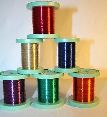 Kupferlackdraht 100m-Rolle Ø 0,15mm-7 Farben z.Auswahl -ideal für LEDs 0,095€/m