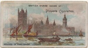 British-House-Of-Parliment-London-England-100-Y-O-Trade-Ad-Card