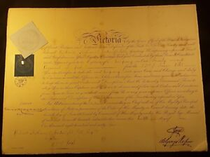 Queen-Victoria-Era-Prince-George-Signed-Autograph-on-Warrant-Document-1865
