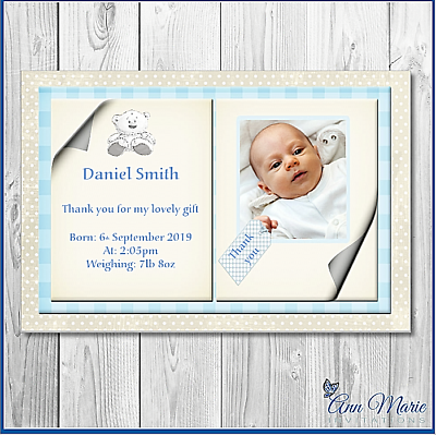 BABY ANNOUNCEMENT CARDS New Baby Cards Custom Photo Cards Printed Listing