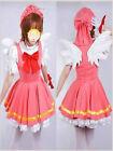 HOT!!!NEW Cardcaptor Sakura Angel Dress Uniform Made Cosplay Costume