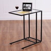 Sofa End Table Coffee Side Table With Glass Top Living Room Home Furniture