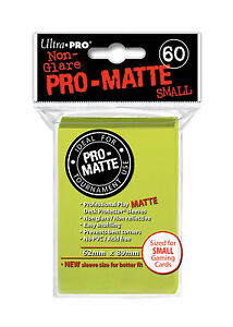 720-12pk-Ultra-Pro-Pro-Matte-Small-Mini-Deck-Protector-Card-Sleeve-Bright-Yellow