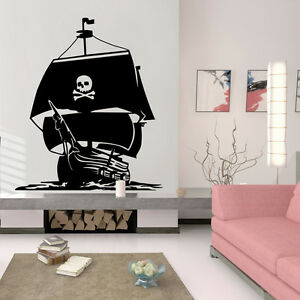 Image Is Loading Pirate Ship Wall Art Decal Vinyl Sticker Decor