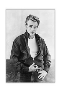 Black and White James Dean Newspaper Montage Poster Prints Wall Art Pictures