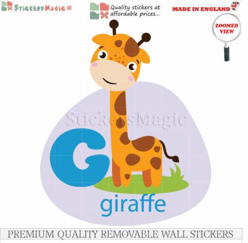 Animales alfabeto ABC educativo Pegatinas para dormitorios niños del niño Calcomanías