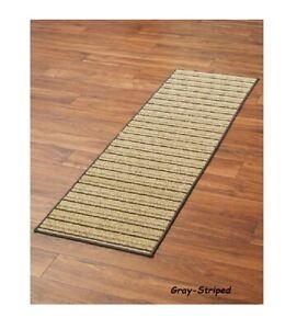 Striped Extra Long Floor Runner 3 Lengths 60 90 120 Non Slip