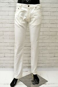 015be4c0d0 Dettagli su Pantalone Uomo MARINA YACHTING Taglia 46 Jeans Pants Cotone  Gamba Dritta Bianco