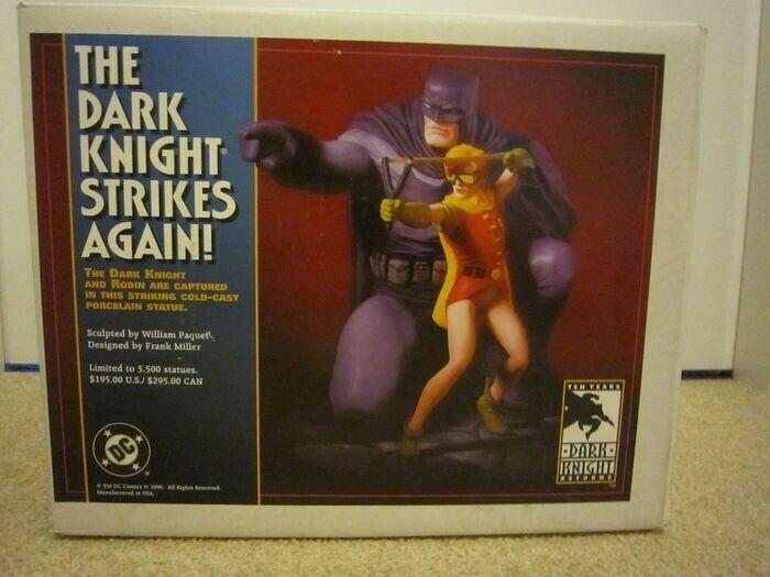 DC DIRECT Statue Batman & Robin dark knight strikes strikes strikes again Frank Miller NEUF 57ad5f