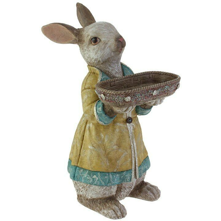 Rabbit Rabbit Rabbit with Basket 14.5in rz19ea 3810222 NEW Easter Decoration 6df07b