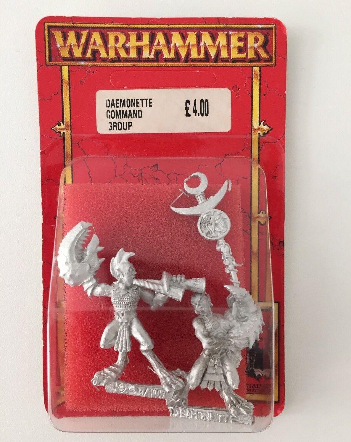 WARHAMMER CHAOS DAEMONETTE COMMAND GROUP SLAANESH METAL OOP (RED 594)