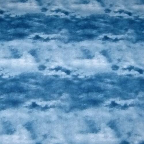 Cotton Fabric by South Seas Imports Cloud Print Naturescape Per ½ Yard, Blue
